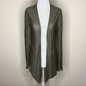 Artisan NY Linen Open Cardigan Drape Front Small